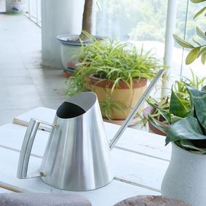 Image 2 - 900 ml/400 ml Paslanmaz Çelik sulama kovası Fırçalanmış Bahçe Dikim Yağmurlama Pot Yeşil Bitkiler Çiçekler Pratik bahçe aletleri