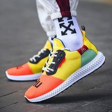 Summer Male Casual Shoes Men Trainers Basket Tenis Masculino 2019 Fashion Sneakers Men Yellow Black Zapatos De Hombre Zapatillas цена