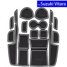 17 Unids Ranura Puerta Puerta Del Coche Esteras Alfombras Posición Portavasos almohadillas Para Suzuki Vitara 2016 2017 Puerta Ranura Mat Envío Gratis