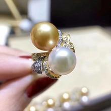 925 серебряные свадебные вечерние жемчужина безымянный палец кольцо настройки регулируется кольцо ювелирных изделий Запчасти арматура аксессуары