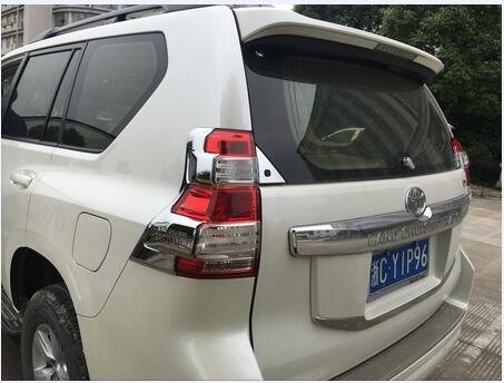 Voiture arrière feu arrière abat-jour cadre garniture protecteur ABS chrome pour Toyota land cruiser prado fj150 voiture accessoires autocollant 2 pc - 6