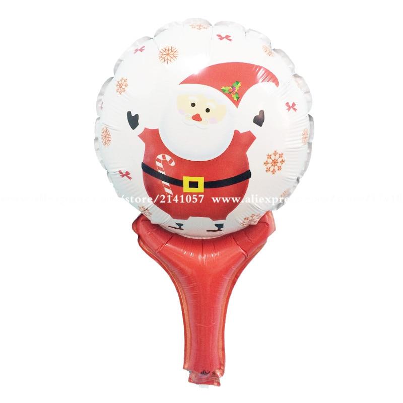 Wholesale 50pcs/lot Christmas balloon santa hand holding rod balloon refueling cartoon balloon Christmas party decorations