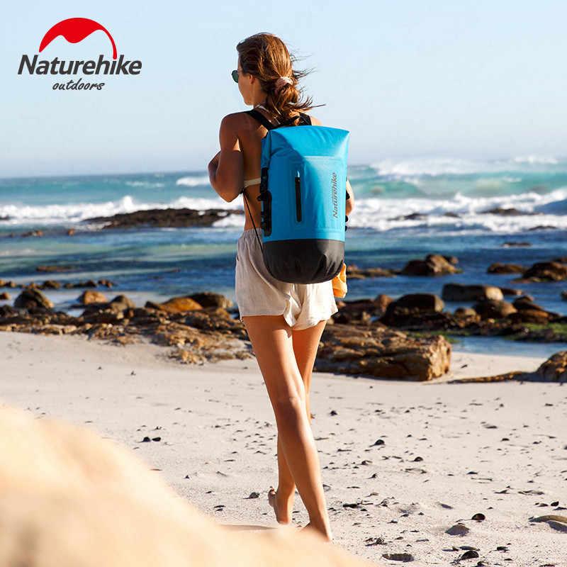 NatureHike 420D TPU Kering Basah Pemisahan Trekking Drifting Seal Arung Jeram Dua Tali Kering Renang Tahan Air Tas dengan Saku