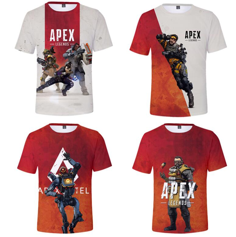 The new explosion of Apex Legends hero game around 3D digital printing men and women short-sleeved T-shirt summer