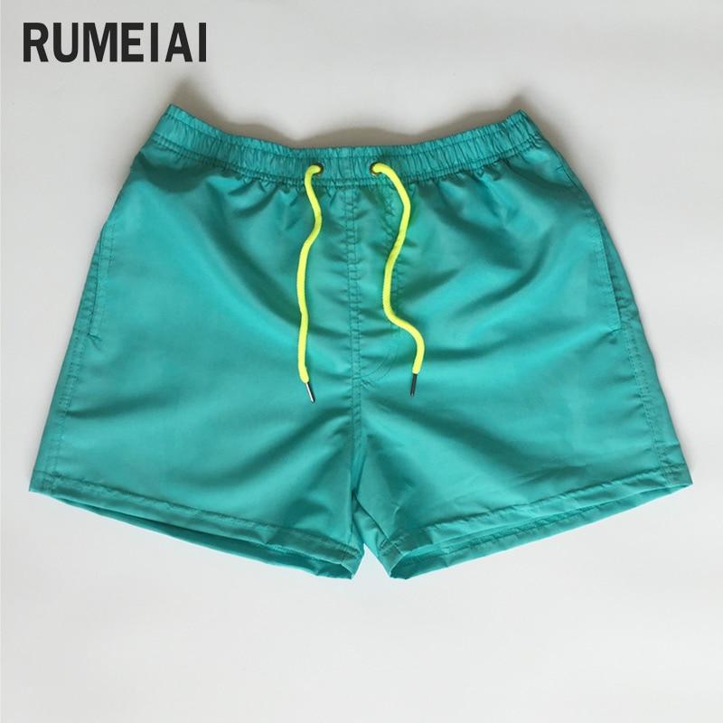 RUMEIAI Shorts Men Casual Bermuda Masculina Brand Solid High Quality Compression Male Cargo Shorts Men Fashion Summer Men Short