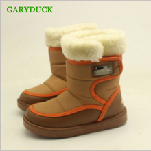 GARYDUCK New Design 2017 winter kids snow boots fashion Girls Boys Candy Color Martin Boots shoes Leather Snow Boots hot sales