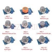 9 шт./1 лот датчик обнаружения газа Модуль MQ-2 MQ-3 MQ-4 MQ-5 MQ-6 MQ-7 MQ-8 MQ-9 MQ-135 Сенсор модуль Сенсор Starter Kit