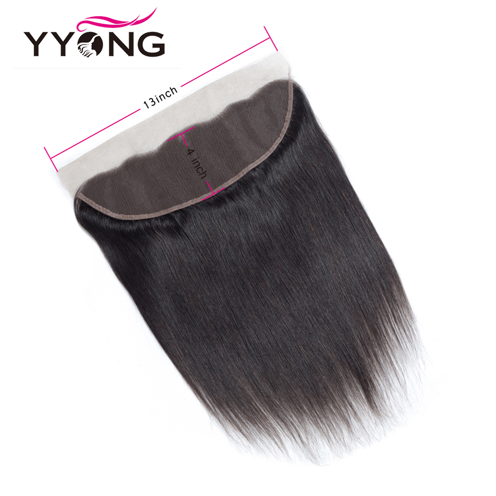 Yyong Hair  Straight Lace Frontal Closure 13*4 Ear To Ear Free/Middle/Three Part Swiss Lace Closure   3
