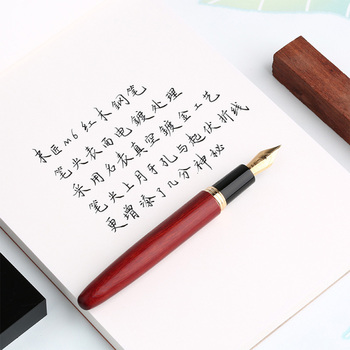 MOONMAN M6 Antypoślizgowy Atrament Pióro Wieczne Piśmiennicze Gładkie Pudełko Strona Główna Próżniowe Napełnianie Biuro Praktyka Urządzenie Z Litego Drewna Przenośne