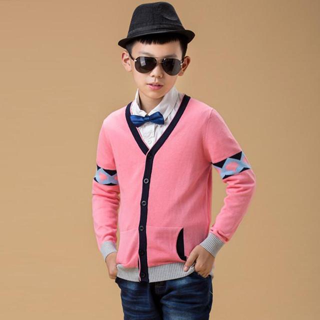 2016 chegada nova tamanho grande meninos altos primavera de malha de lã Cardigan Sweater com bolso Young Man Manual vestido de malha casaco, Yc189
