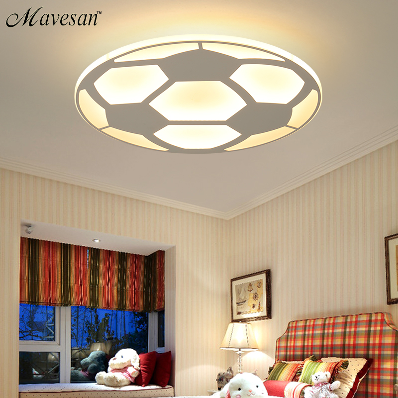 New Designer LED Kids Ceiling Lamp with football for bedroom remote control Ultrathin ceiling llight home