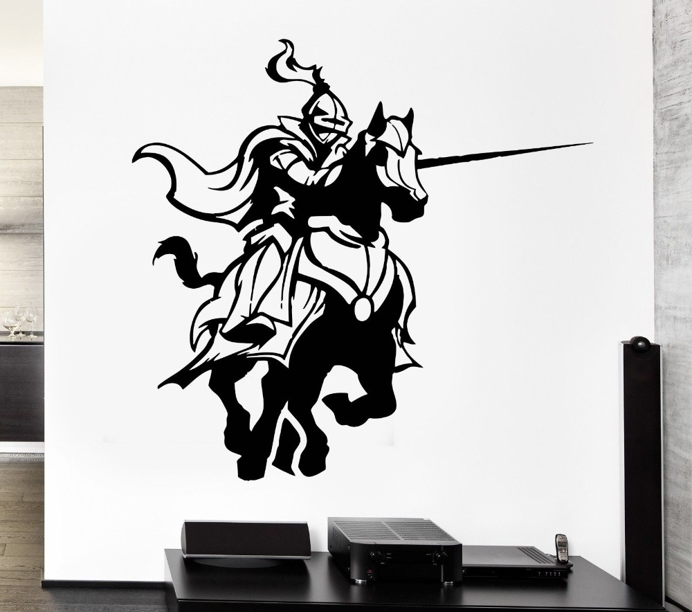 Ninja Warrior Wallpaper 3d Free Shipping Medieval Knights Fighting Game Horse