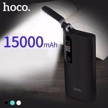 Original HOCO Powerbank 15000mAh Portable Mobile Power Bank with Table Bank Dual USB Ports Universal External Power Backup B27