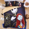 Home 3d Bedding Sets Nightmare Before Xmas Black Hallowmas Bed Linens Monroe Duvet Cover Set King