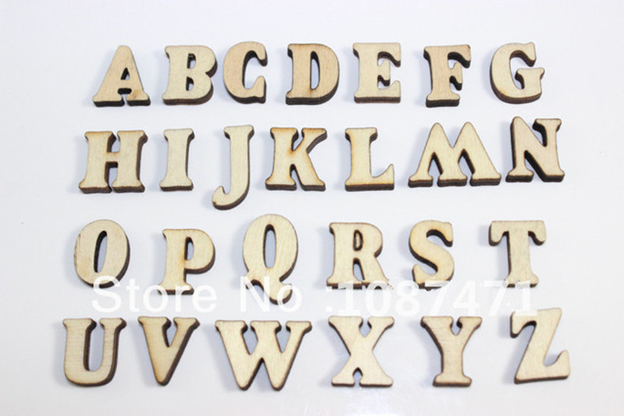 complete 26 english alphabet letters wood wooden craft home decoration alphabet wedding birthday figurines miniatures