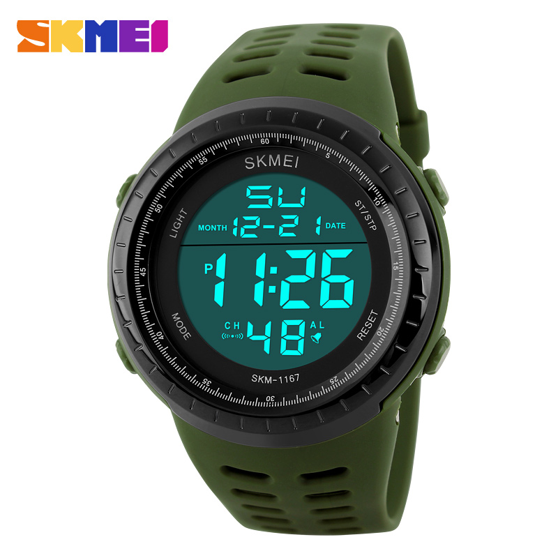 <font><b>SKMEI</b></font> Luxury Brand Men Sports Watches Fashion Digital Led Display Sport Mens Waterproof Resistant Wristwatches Relogio Masculino image