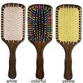 Madera cepillo de pelo Peines Cepillo de Paleta De Madera Spa el Cuidado del Cabello Masaje Peine Antiestático J18