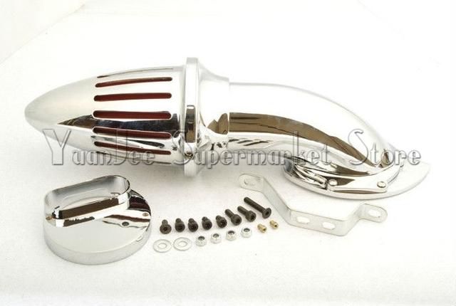 Peças da motocicleta de ar Kits de filtro para Yamaha V - Star 1100 Dragstar XVS1100 1999 up CHROME