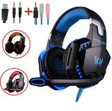 Игровые наушники, проводные наушники с подсветильник кой для микрофона, наушники с глубокими басами и кабелем для PS4, ПК, нового Xbox