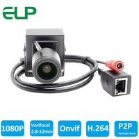 Full HD 1080P 2 0MP 25fps Mini IP Camera ONVIF 2 8 12mm Manual Varifocal Zoom