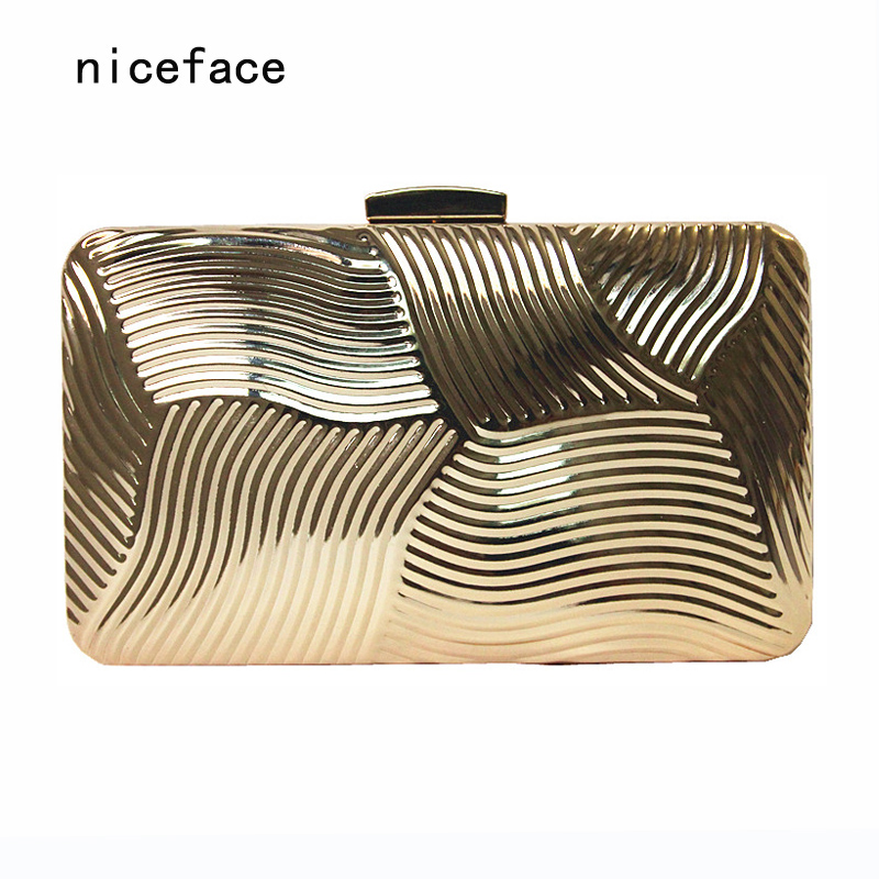 Woman new wallet 2017 Europe brand feminina fashion noble metal hard boutique clutch solid cross Lady luxury casual evening bag fuzzy metal clutch wallet