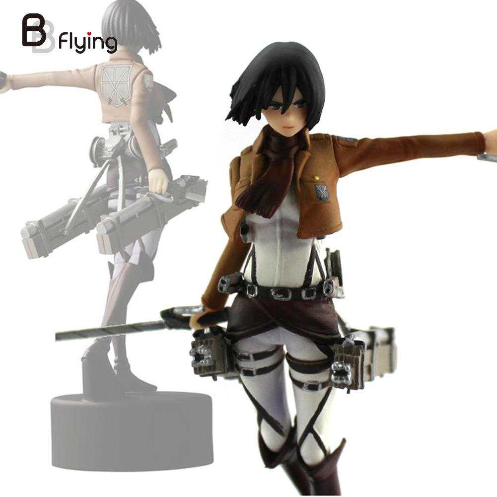 Free Shipping Trendy 4.7 Shingeki No Kyojin Ackerman PVC Figure Figurine Gift Attack On Titan Fighting Doll Man Desk Decoration потребительские товары shingeki kyojin