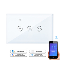 US Curtain Wall Switch WiFi Control via APP/Voice Control by Alexa Google Home Smart Home use For blind Motors Roller Shutter