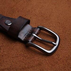 Image 4 - LANSPACE العلامة التجارية اليدوية الرجال أحزمة جلدية بالجملة سليم الترفيه حزام البنطال الجينز 2.7