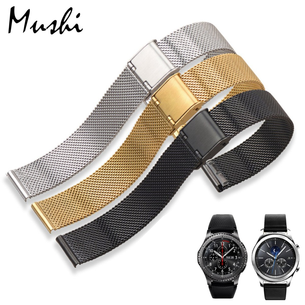 MS Milanese Watchband+Tool for Samsung Gear S3 Classic Frontier Garmin Fenix Chronos Stainless Steel Strap Wrist Bracelet 22mm garmin fenix chronos steel