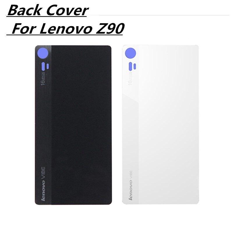 100% Original Rear Replacement Housing Cover for Lenovo Vibe Shot Z90,Back Door Hard Battery Case Repair Part, 5Inch White Black