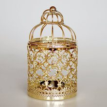 PINNY European Plating Metal Candles Stand Nordic Decorative Candle Holder Home Moroccan Lanterns