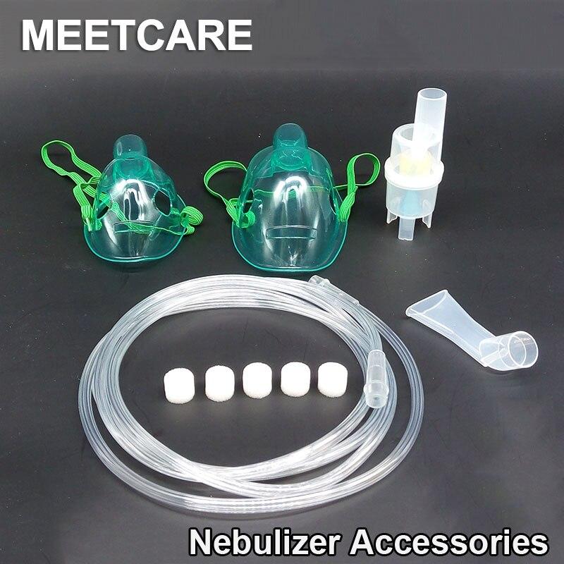 Inhalator Zubehör Set für Omron Medizinische Haushalt Kompressor Vernebler mit Tasse Mundstücke Erwachsenes Kind Aerosol Maske Filter