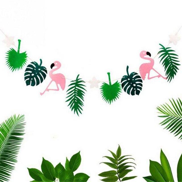 Flamingo y hojas verano decoraci n del partido guirnalda - Hojas de decoracion ...