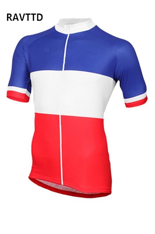 Prix pour Français Vélo Jersey Hommes 2017 Court Jersey Vélo T-shirt Vélo Maillot VTT Vélo Pro Cycling Team clothing