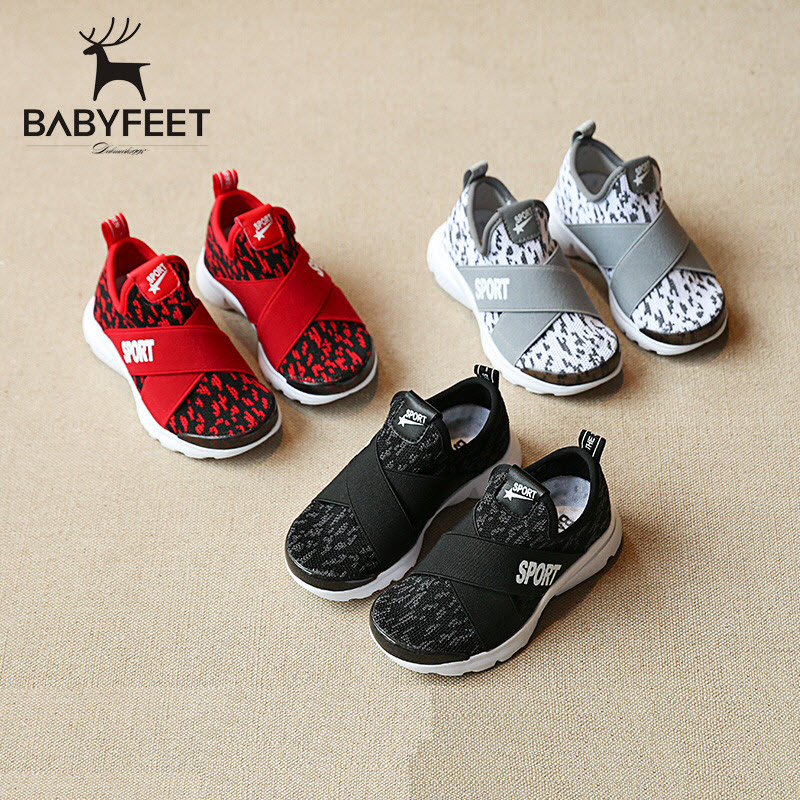 Babyfeet Spring and Autumn baby Sports shoes soft low boys and girls flat kids fashion casual Sneakers breathable children shoes children s shoes boys and girls ultralight casual sports shoes children fashion sneakers mesh fabric breathable travel shoes