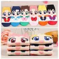 Sexy Anime Sailor Moon Nette Cartoon Socken Sailor Moon Cosplay Kostüm Lolita Cartoon Socken Neue Mode Mädchen Frauen Baumwolle Socken
