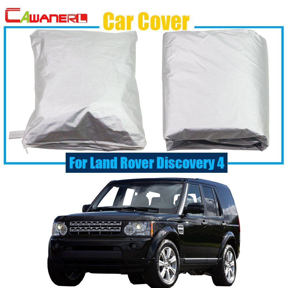 Cawanerl Car Cover Rain Sun Snow Resistant Protector Anti UV Cover Dustproof For Land Rover Discovery