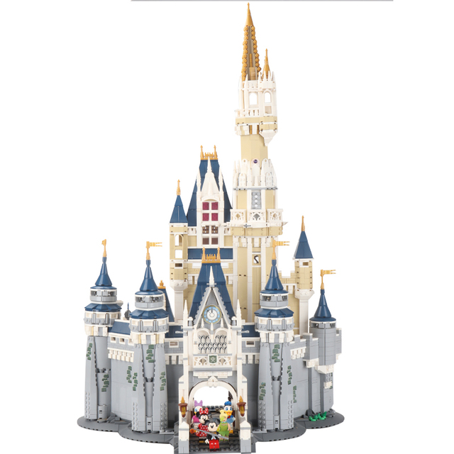 16008 the Cinderella Princess Dream Castle fit legosg 71040 Toys Model Building Block Bricks DIY Educational Birthday Kids Gift