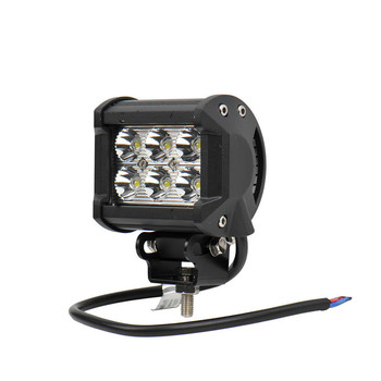 18W Spotlight IP65 4 Inch LED Work Light Bar For Indicators Motorcycle Offroad Boat Car Tractor Truck SUV 12V-30V