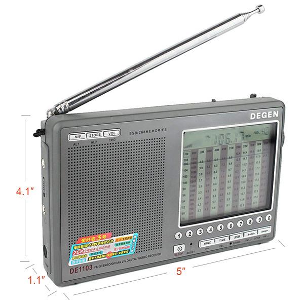Hot Sale DEGEN DE1103 DSP Radio FM SW MW (4)