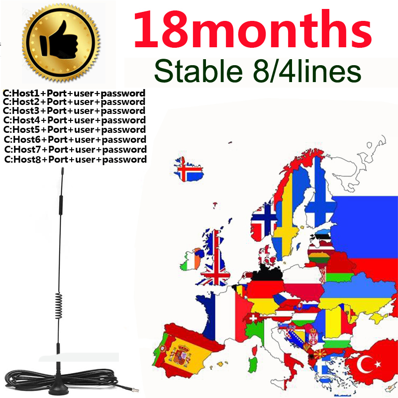 Most Stable Cccams  For Europe Satellite Receiver 4/8lines WIFI FULL HD Spain Digital DVB-S2 Set Top With Ccams