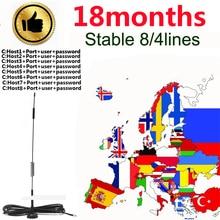 Наиболее стабильный цццамс для Европы-цифра спутниковый телевизионный ресивер 4/8 линий WI-FI FULL HD Испания цифровой DVB-S2 Декодер каналов кабельного телевидения с ccams