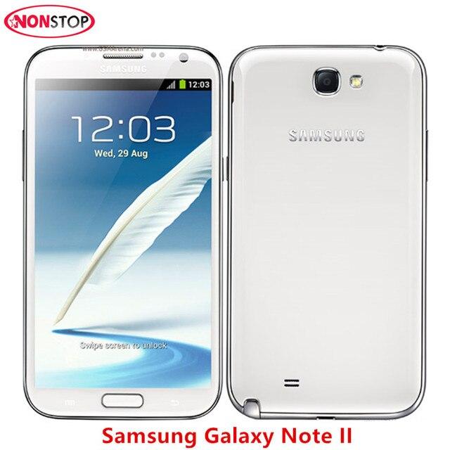 US $74 43 36% OFF|Samsung Galaxy Note II 2 N7100 Android Smartphone 5 5inch  2GB RAM 16GB ROM 3G Refurbished Unlocked Original Mobile phone-in Mobile
