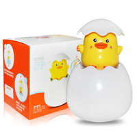 Children's bathroom Bath toys Water spray duck Sprinkler shower Floating water spray egg Baby playing with water toys