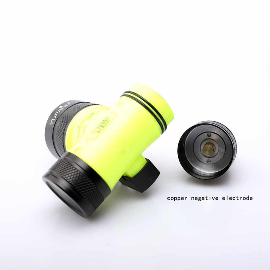 الغوص مزدوجة الفتيل للماء T6 LED L2 الأشعة فوق البنفسجية مصباح ليد جيب تحت الماء كشافات ملء ضوء الدراجة العلوي مصباح فانوس 26650