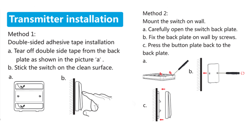 2 ways to install the switch