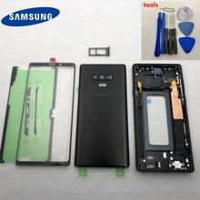 Original note9 กรณีเคสกลางกรอบ + เปลี่ยนกระจกด้านหน้าสำหรับ Samsung Galaxy หมายเหตุ 9 N960 n960F