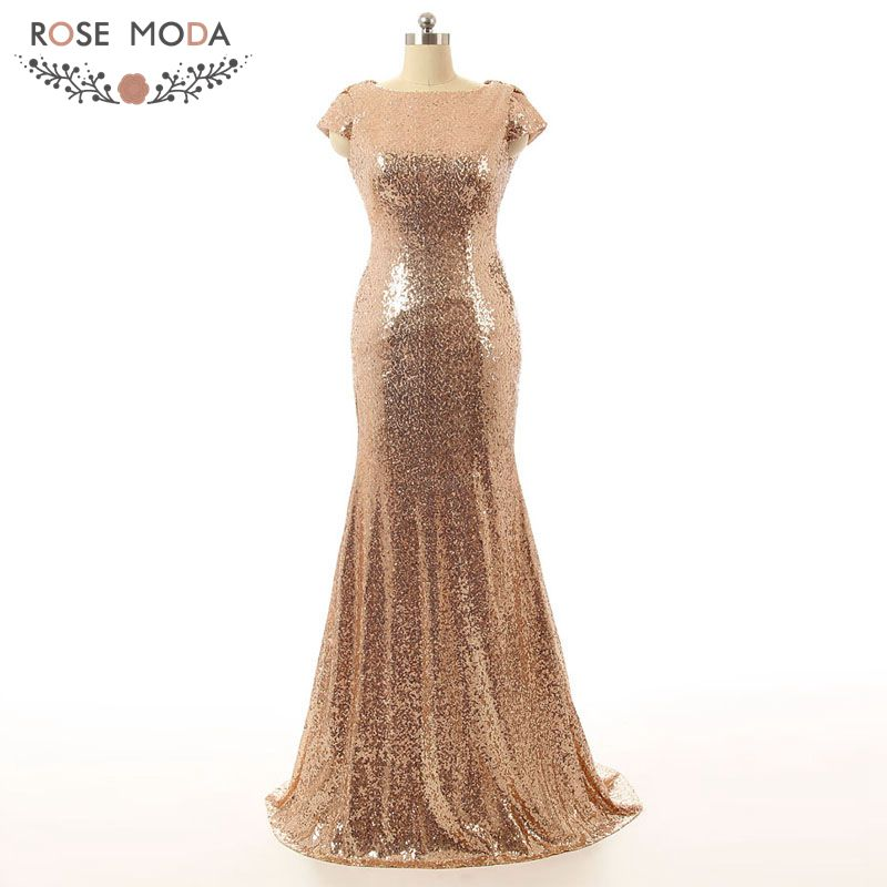 Real photo champagne gold silver high neck short sleeve for Champagne lace short wedding dress