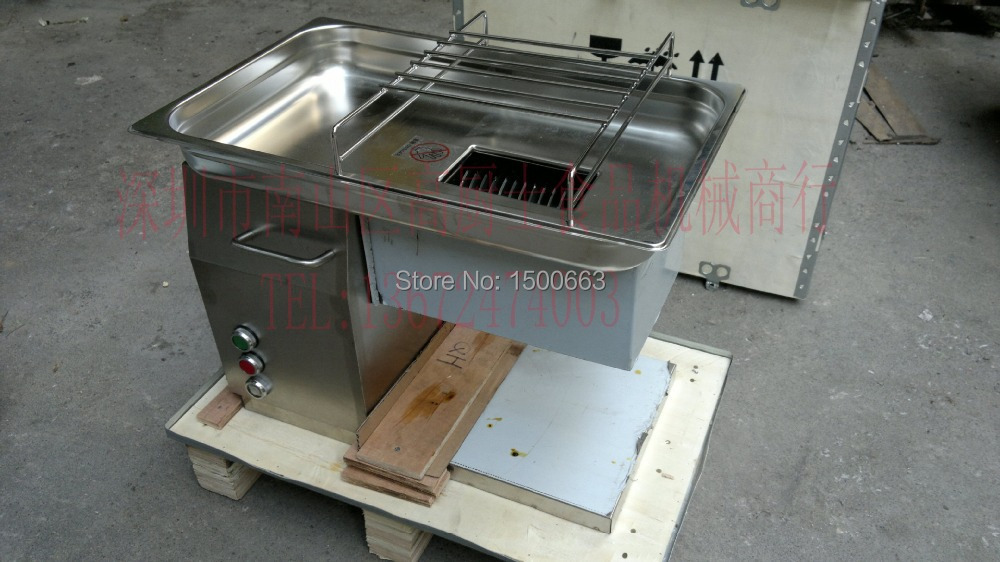 цена free shipping Desktop Type QH Model Meat Cutter Machine 500KG/Hr Meat Chopper Stainless Steel Chicken Breast Slicer
