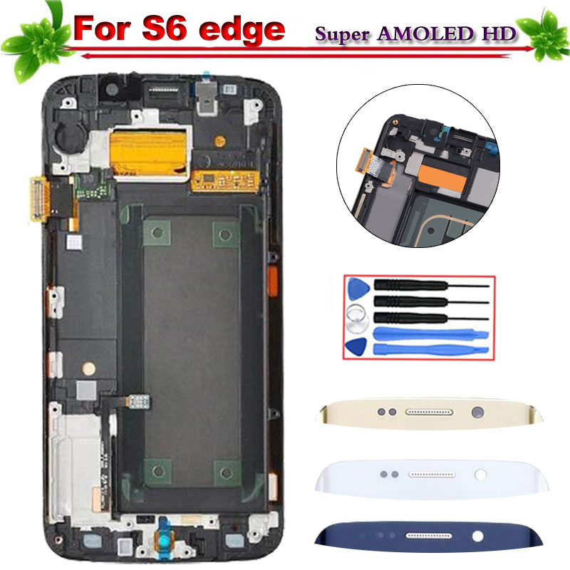 100% Tested Super Amoled HD for Samsung Galaxy S6 Edge G925 G925F G925I LCD Display Touch Screen Digitizer Assembly With Frame100% Tested Super Amoled HD for Samsung Galaxy S6 Edge G925 G925F G925I LCD Display Touch Screen Digitizer Assembly With Frame